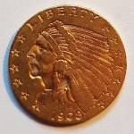 U.S.A. XF 1908 First Year Indian Head $2.50 Gold Quarter Eagle