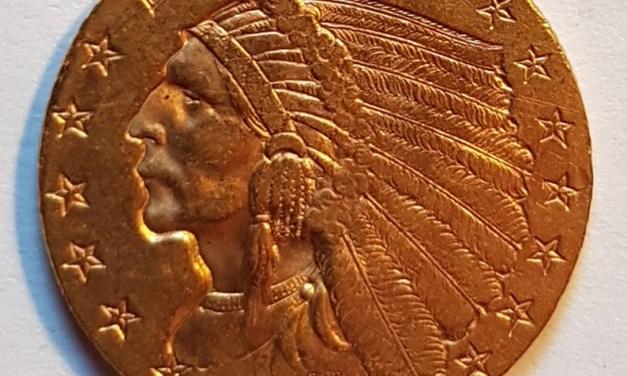 U.S.A. XF 1908 First Year Indian Head $2.50 Gold Quarter Eagle