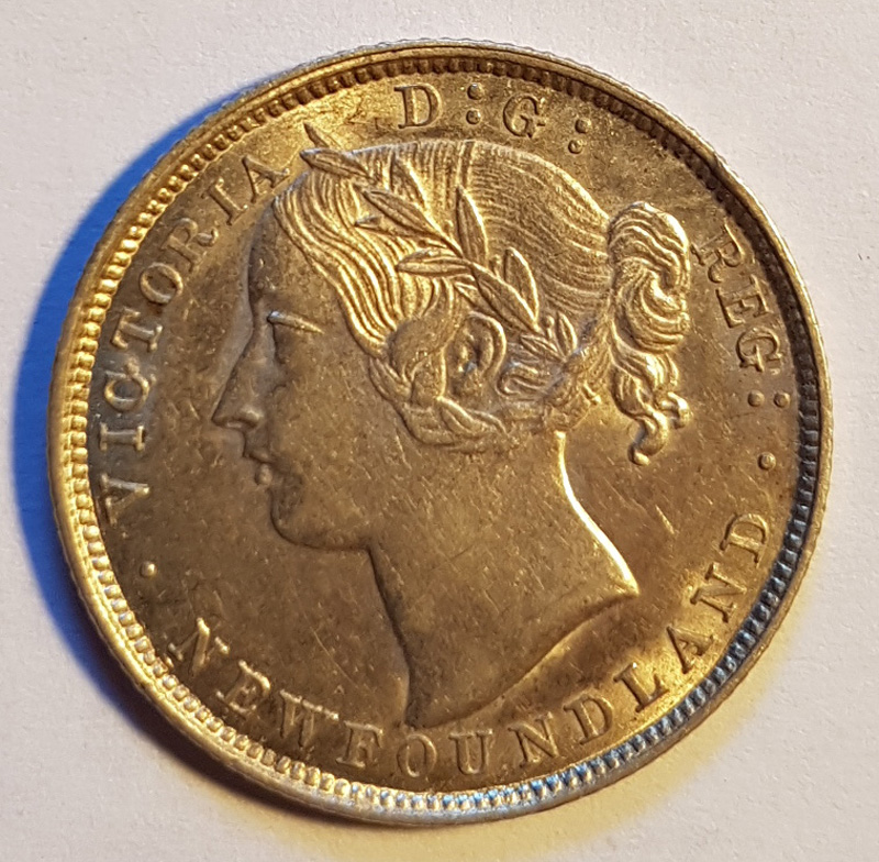 obverse with victoria young head