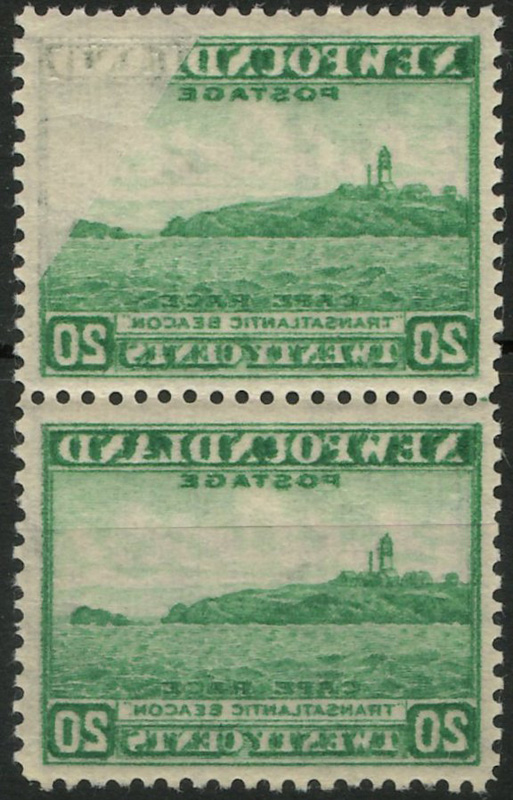 Pair of stamps showing offset