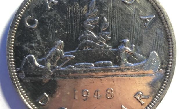 Canada Unc 1948 key date Silver Dollar
