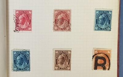 Canada 1859/1930 Mint & Used in Miniature album incl Quebecs (100)