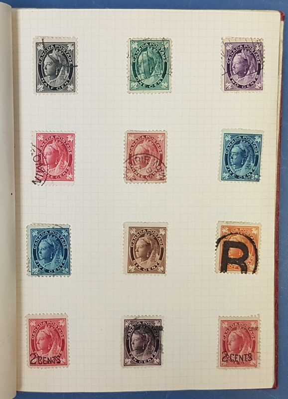 Album page with Jubilee stamps