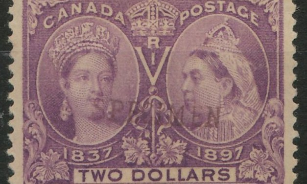 Canada #62S 1897 $2 Jubilee Specimen