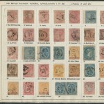 34 different Colonial British Columbia numeral cancels