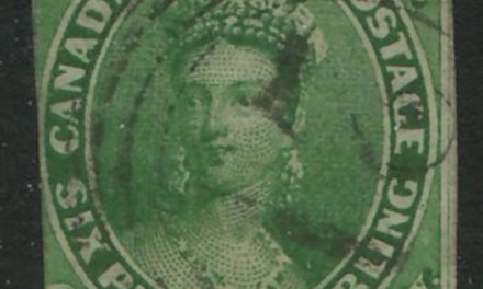 Canada #9 Fine 4-ring Numeral #21 Montreal Used 1857 7.5d