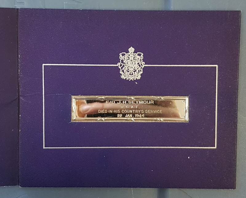 Plaque on cover
