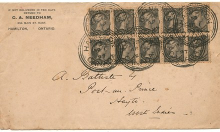 Canada #34 1 Apr 1897 10c Small Queen Cover to Port au Prince, Haiti