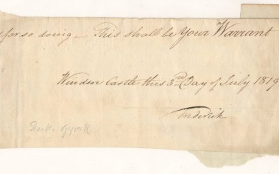 Frederick (Grand Old) Duke of York 1819 Signed Warrant Portion