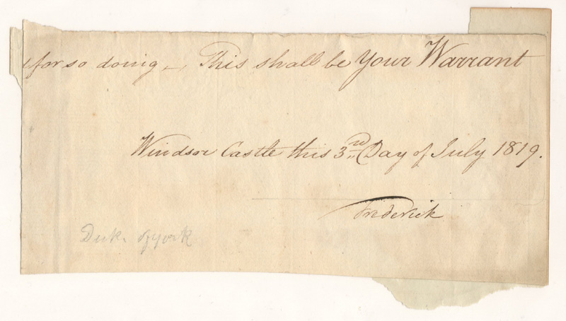 handwriting, signature Frederick