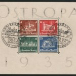 Germany #B68 30 My 1935 Used Ostropa Souvenir Sheet