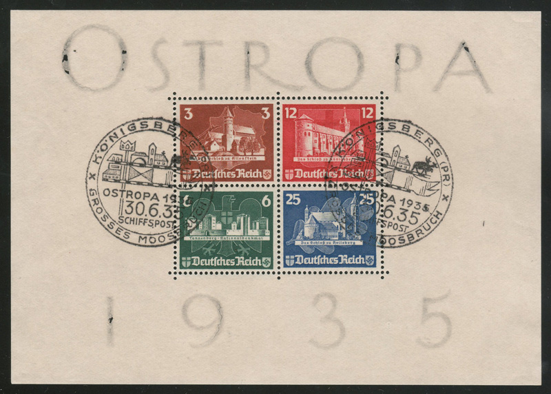 Ostropa 1935 sheet of 4 stamps