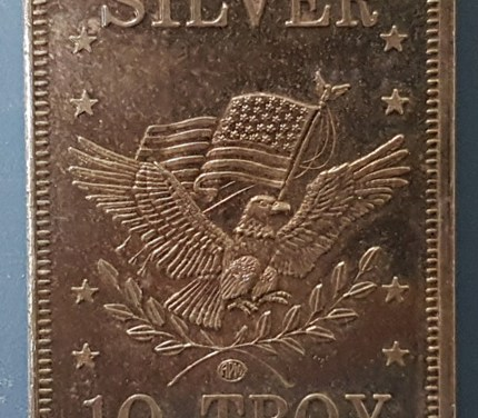 10 Troy Ounces APM .999 Fine Silver Bar