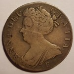 Lot 183 G.B. abt VF 1707E Queen Anne Silver Crown