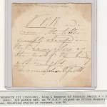 Frederick III King of Prussia as Prince Regent signed note