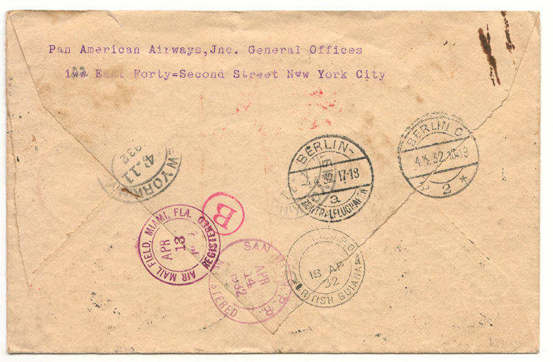 back of cover with cancels