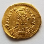 Anastasius I 491-518AD 4.37 gram Gold Solidus from Constantinople
