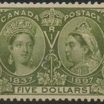 Canada #65 VF Mint 1897 $5 Jubilee Well Centered