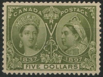 Jubilee stamp in stockbook