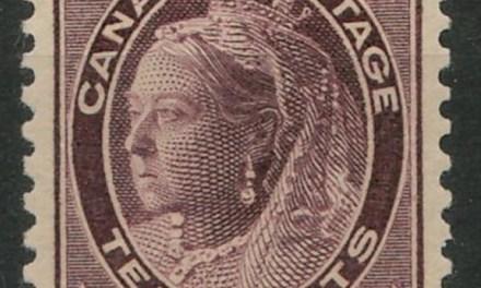 Canada #73ii VFNH1897 10cBrown Violet Horizontal Wove Paper