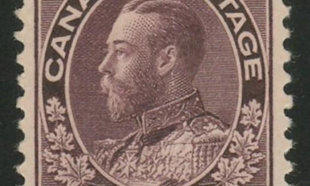 Canada #116 VF Mint 1912 10c Plum George V Admiral $400.
