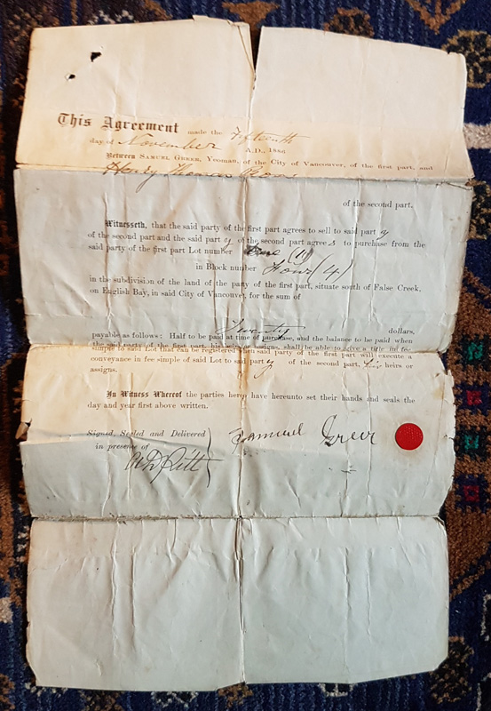 pictures of document unfolded