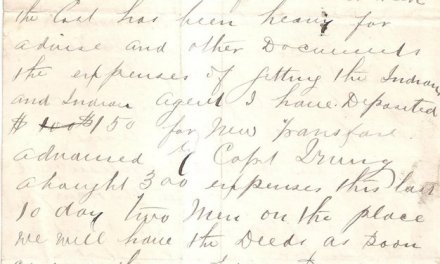 Page 74, 17th March 1884, letter from Sam Greer on Granville Hotel letterhead