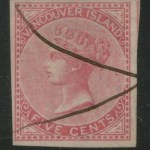 British Columbia #3 VF m/s Used 1865 5c Rose ex William Gross