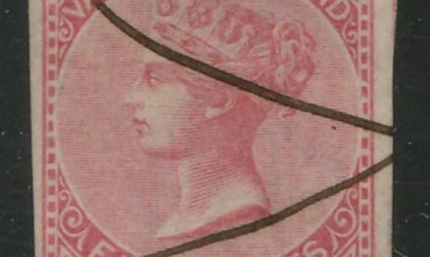 British Columbia #3 VF m/s Used 1865 5c Rose ex William Gross