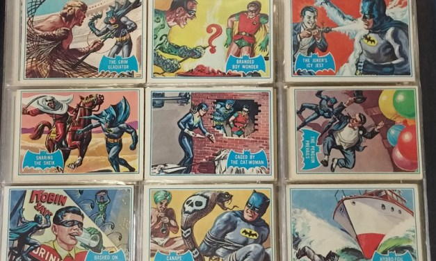 200	Batman 1966 Topps Card Set trio in pages (143)