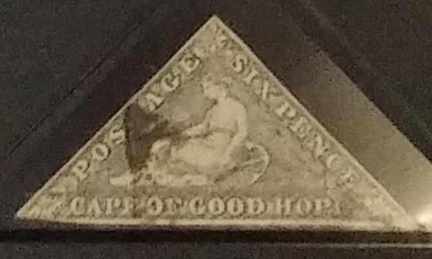 Cape of Good Hope 1858/1864 Used 6d Triangle in Gibbons folder