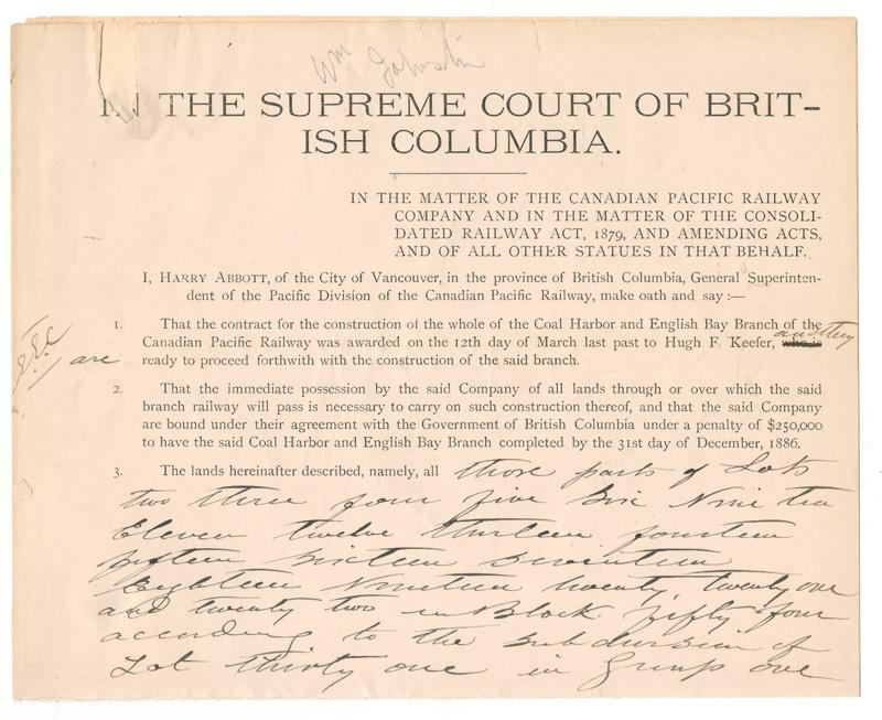 The Supreme Court of British Columbia
