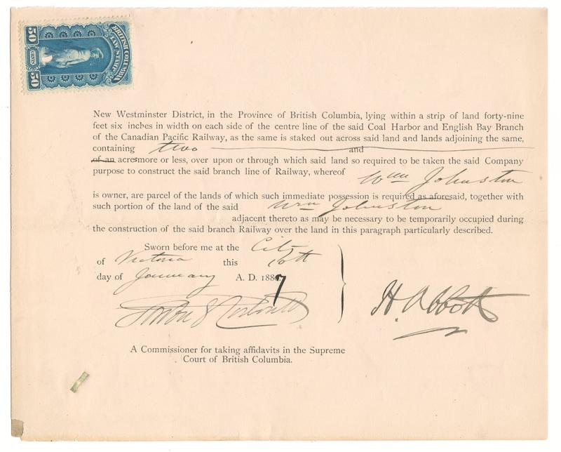 signed typewritten document