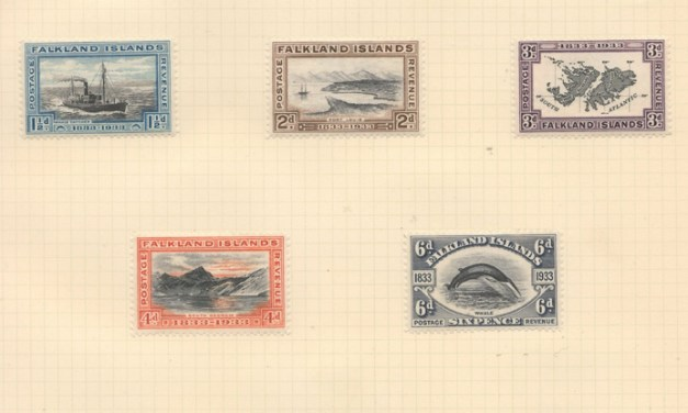 Falkland Islands #65-74 Mint 1933 Centenary Set to 5/- (10)