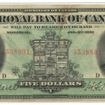 Royal Bank of Canada Fine+ 1913 $5 Banknote