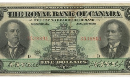 Royal Bank of Canada Fine+ 1913 $5 Banknote