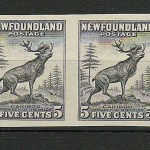 Newfoundland #190avar VF 1932 5c Black Proof Pair US$250.