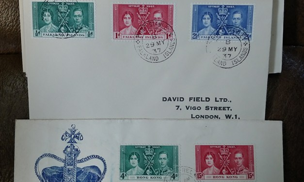 1937 Coronation 45 diff A/V Covers & FDCs incl Hong Kong