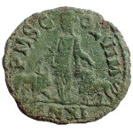 AE29 Trajan Decius 249-251 AD Moesia, Viminacium with Bull and Lion