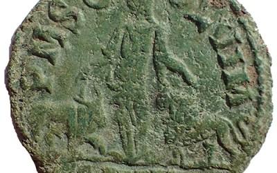 AE29 Trajan Decius 249-251 AD Moesia, Viminacium with Bull and Lion