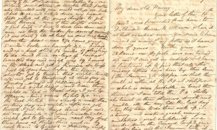 Halifax, N.S. 25 Feb 1869 2-page 4-sided Marcus Smith letter to his wife