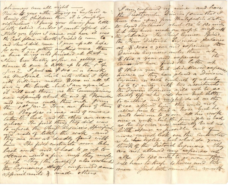 handwritten letter pages
