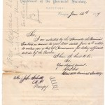 Manitoba Department of Provincial Secretary Roy & Schultz 1877 signed 8 page list of Commissioners