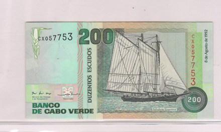 Cape Verde #P54a, P60, P63 Unc 1977/89 banknote trio