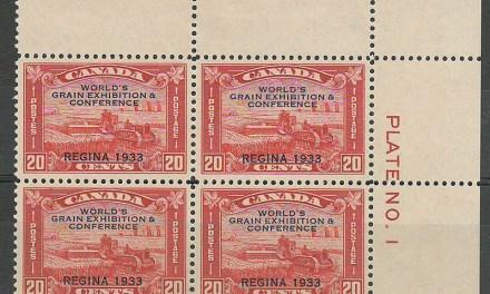 Canada #203 1933 20c Grain Ex Plate One Block (4)