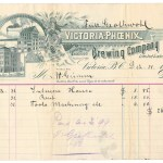 Victoria-Phoenix Brewing 31 De 1895 illustrated invoice, ex Wellburn