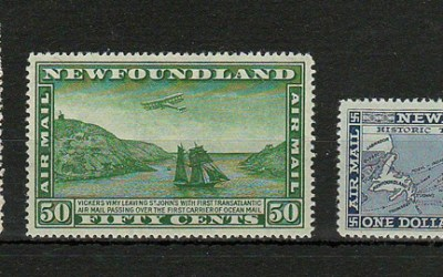 Newfoundland #C9-C11 1931 Watermarked Airmail Set (3)