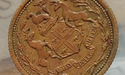 H.B.C. Eastmain ICCS MS60 1857 1/8 Made Beaver Token