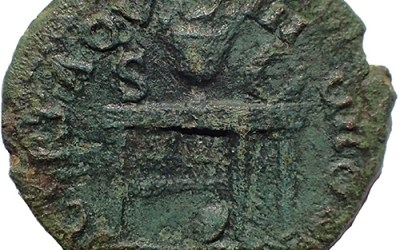 Nero 54-68 AD Ae Semis struck at Rome Mint