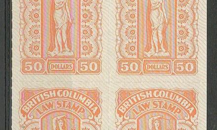 British Columbia #BCL67 1981 $50 Plate Block (4)